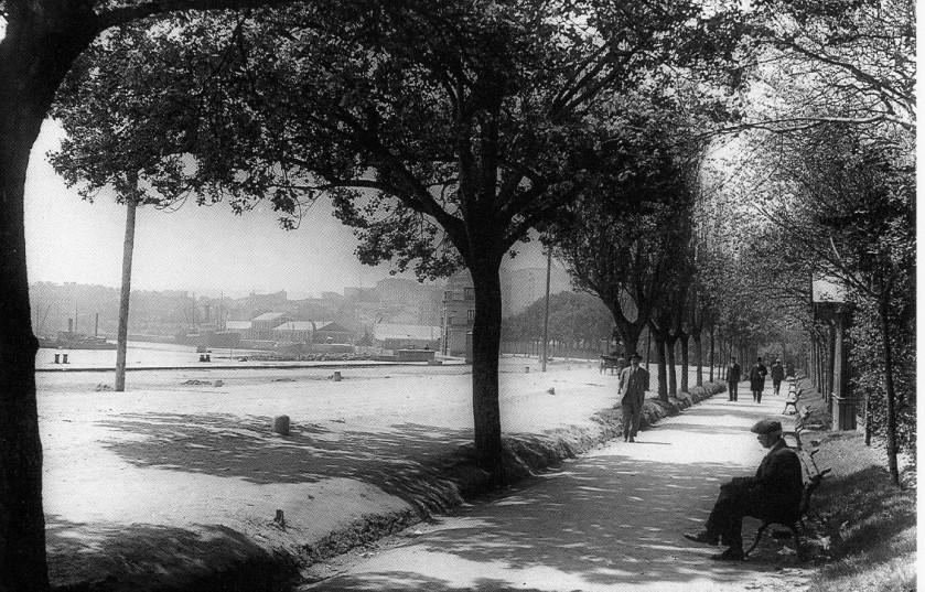 años 30. se ve pabellós oceanográfico. fuente coruña antigua (2)