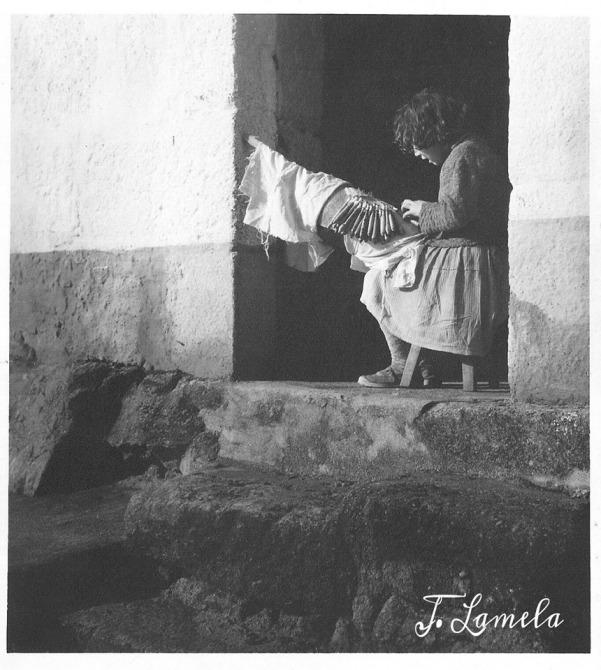 Palilleira da Costa da Morte. Anos 60s. Lamela